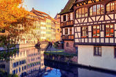 Strasbourg with half-timbered houses.