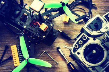 Drone quadcopter with controller