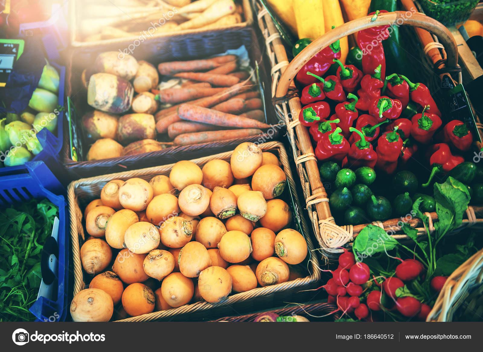Fresh Vegetables Local Farmers Market Food Background