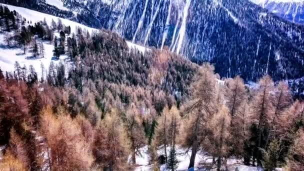 magnificent snowy forest and peaks of Val d'Anniviers, Saint-Luc, Switzerland