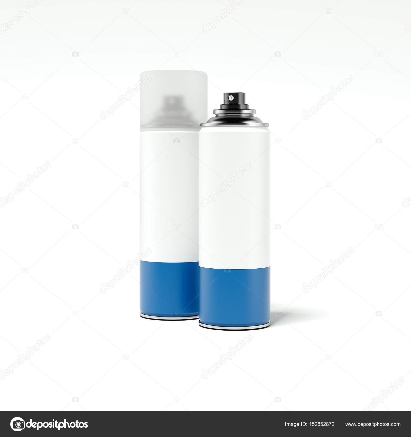 Dos botes de spray de pintura con etiquetas blancas for Bote de pintura precio