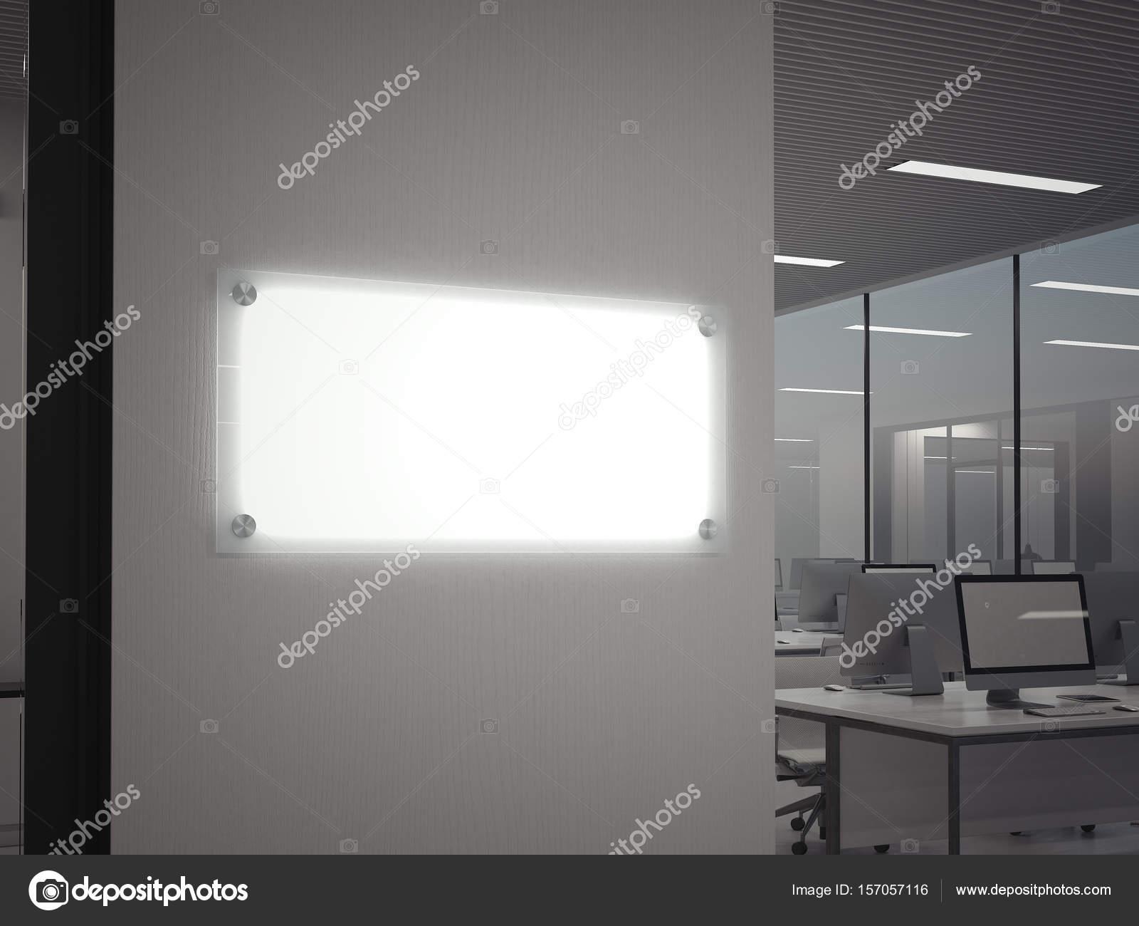 De glasplaat van de verlichting. 3D-rendering — Stockfoto © ekostsov ...