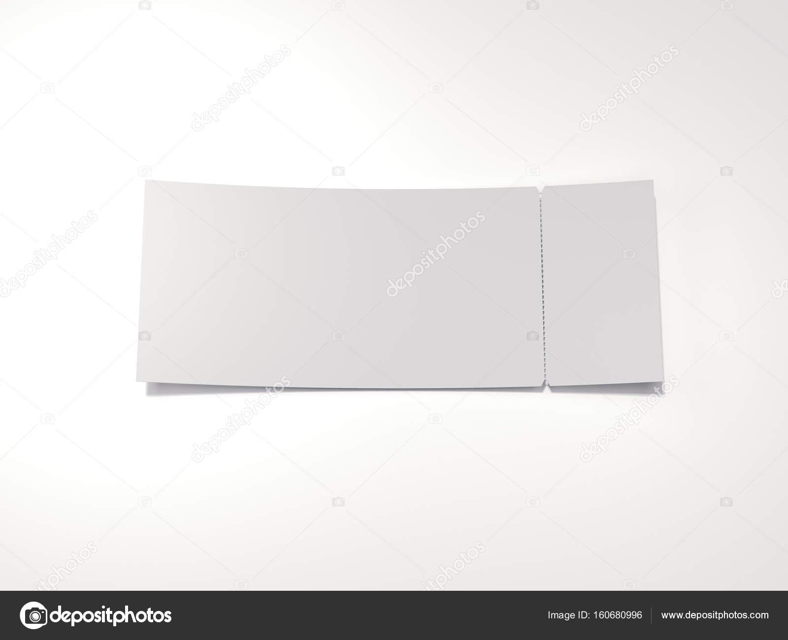 blank tear off ticket 3d rendering stock photo ekostsov 160680996