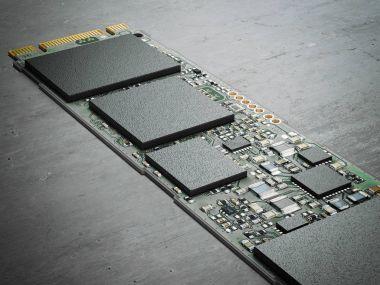 Modern computer chip. 3d rendering