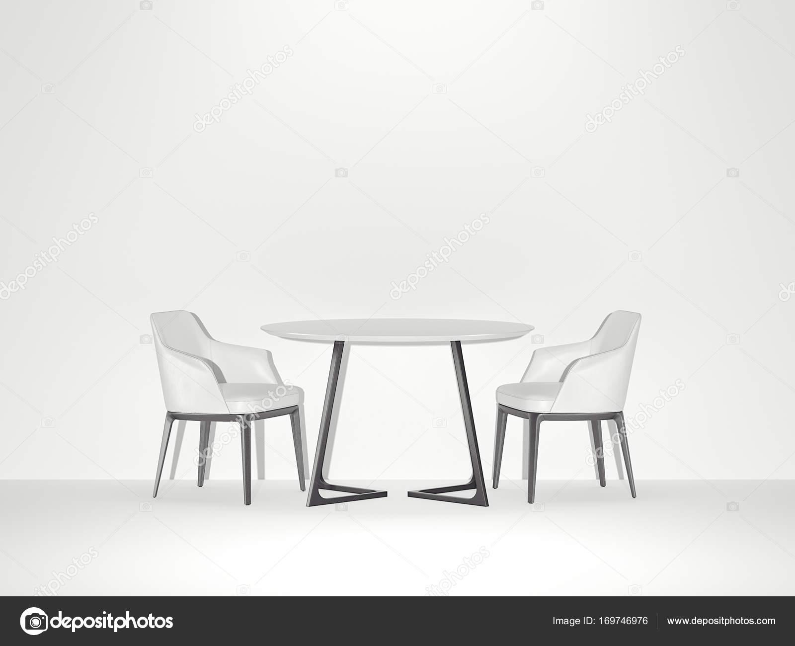 Malerisch Weisse Stühle Galerie Von Zwei Weiße Stühle Und Tisch Im Hellen