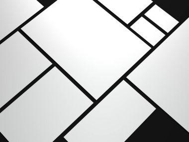 White branding mockup. 3d rendering