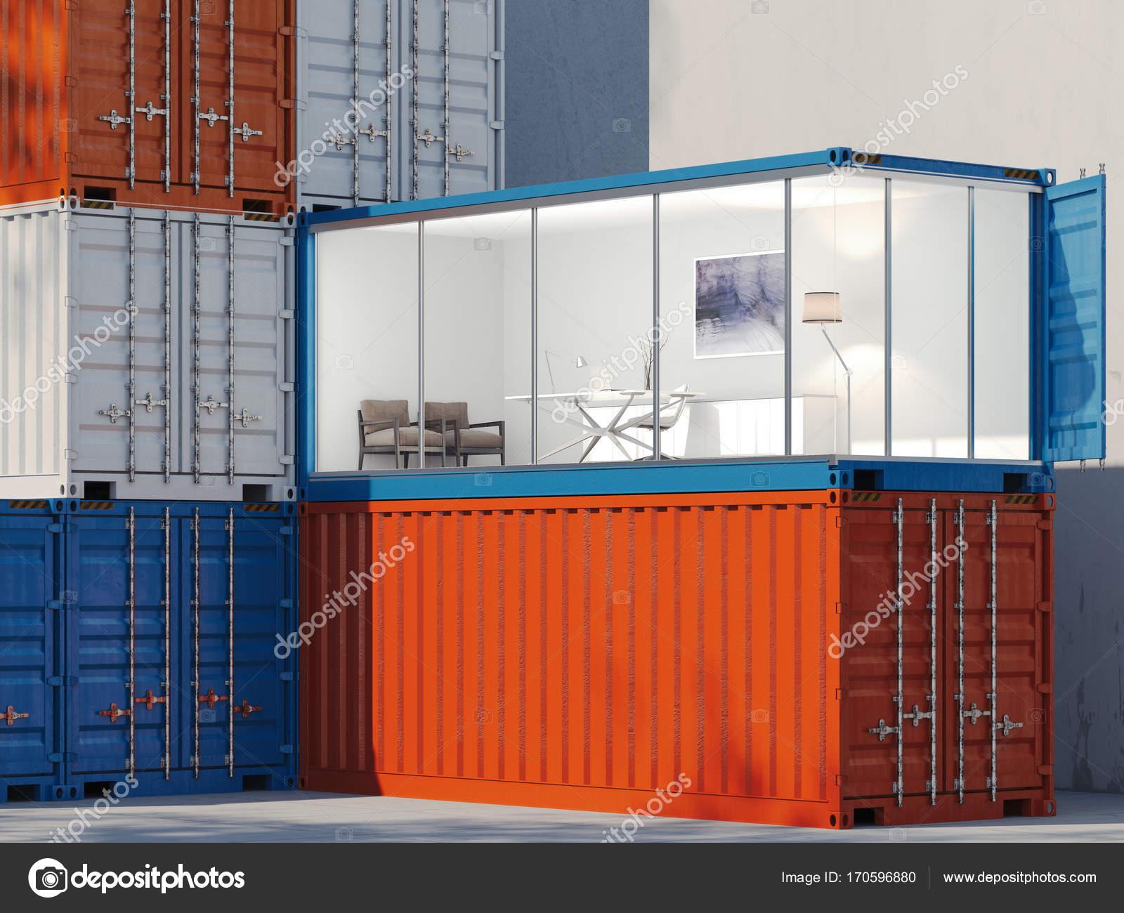 Les conteneurs un conteneur est converti en un bureau rendu d