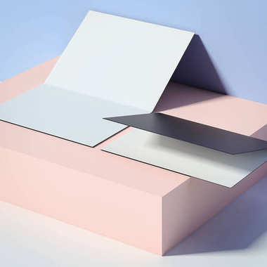 Two leaflets on the box. 3d rendering