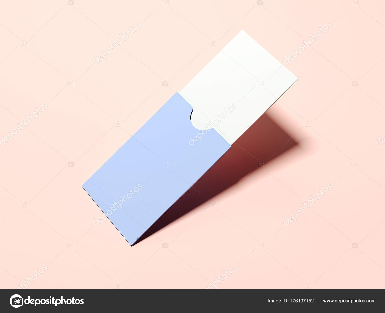 Purple paper package with blank business card 3d rendering stock purple paper package with blank business card 3d rendering stock photo reheart Gallery