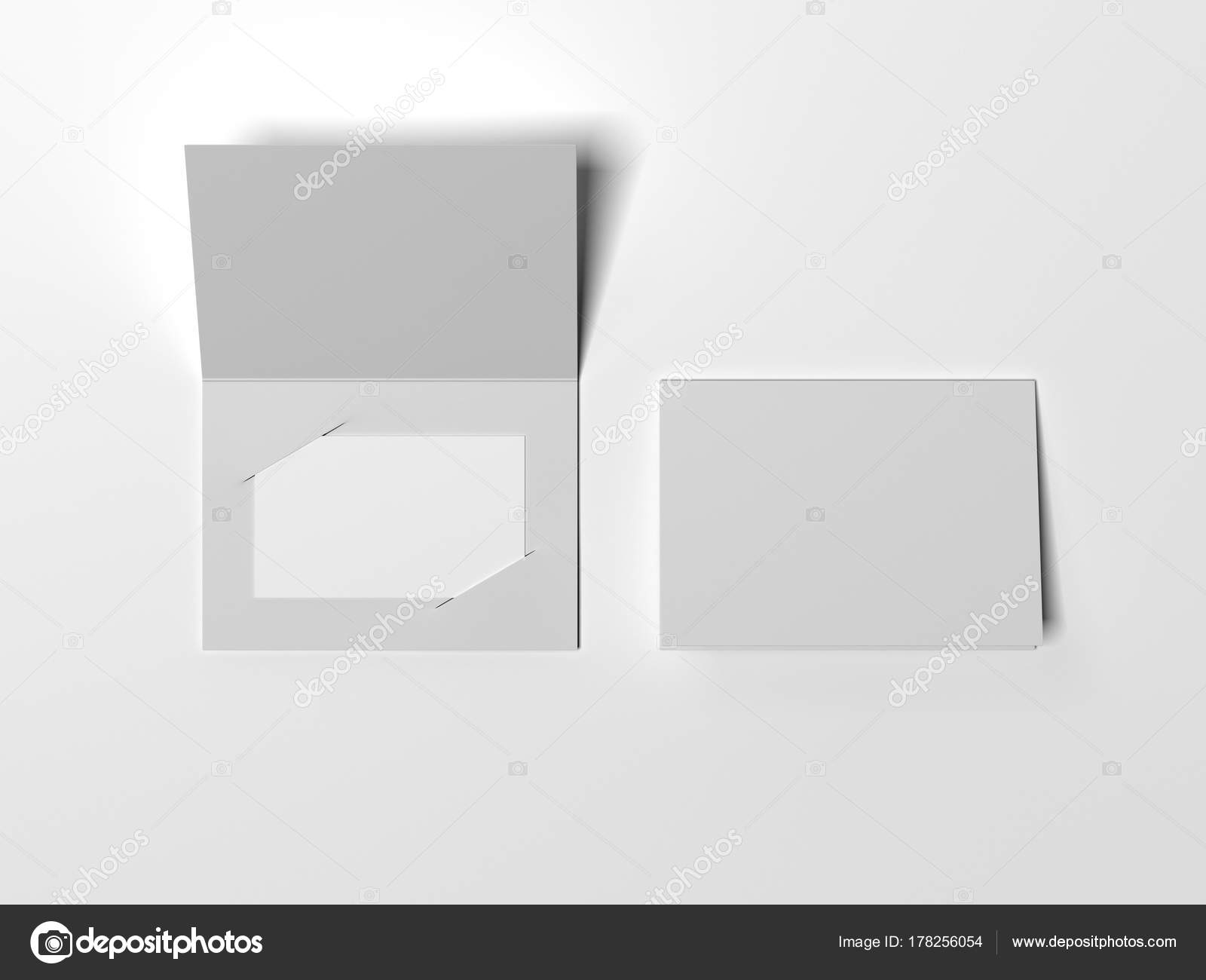 Extrait De La Brochure Avec Carte Visite Vide Lintrieur Rendu 3D Image Ekostsov
