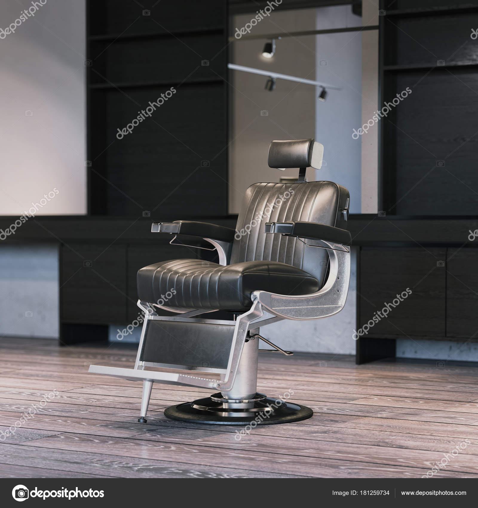 Intérieur de salon de coiffure moderne avec chaise. rendu 3D ...