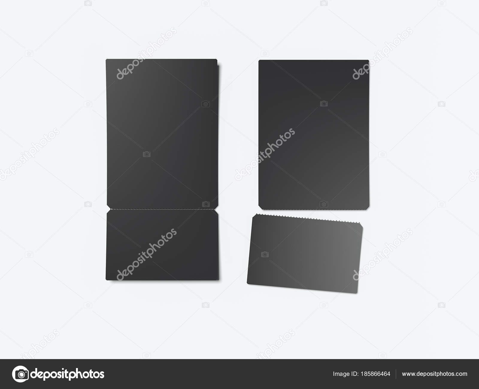 two black tear off tickets 3d rendering stock photo ekostsov