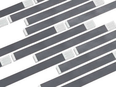 Gray paper wirstbands. 3d rendering