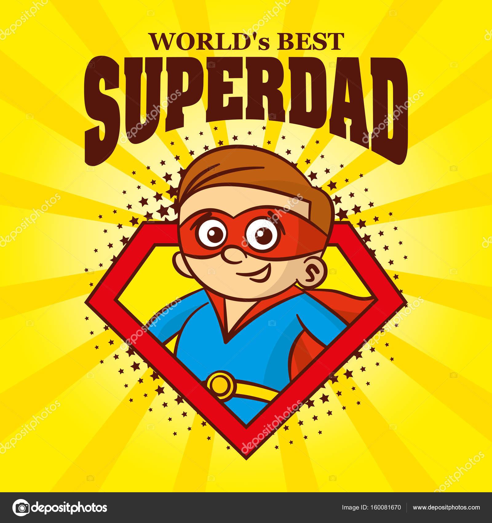 superh233roe de superdad logo de dibujos animados car225cter