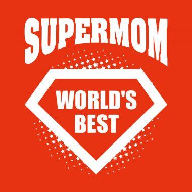 Supermom logo superhero Worlds best