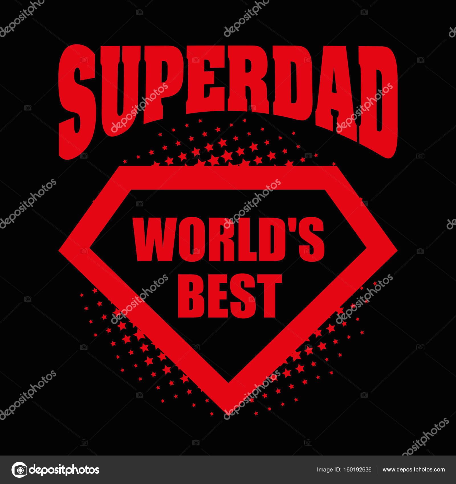 SuperDad Logo Superhelden Welt am besten — Stockvektor © ichbinsam ...
