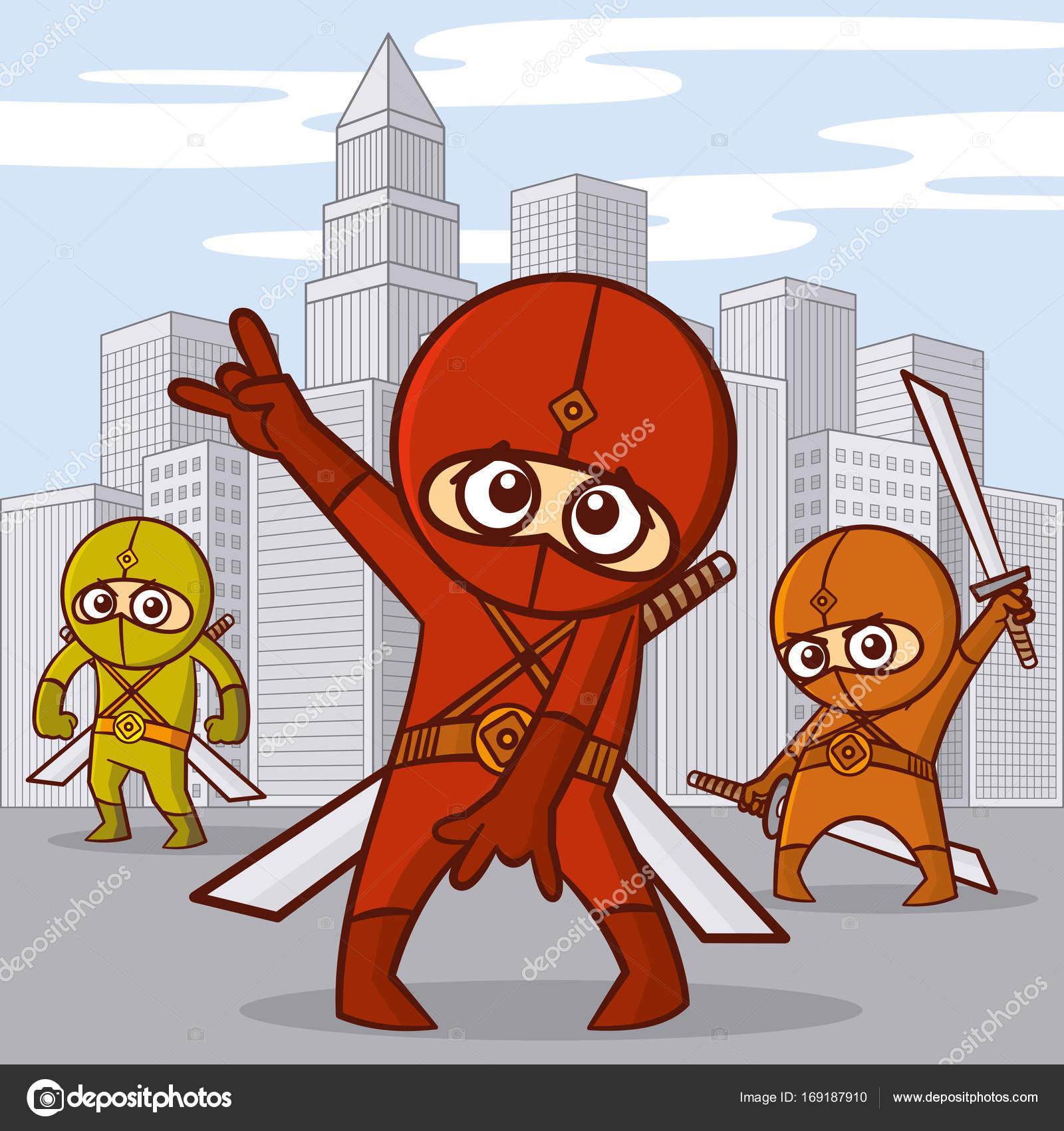 Personaggio dei cartoni animati di supereroi — vettoriali