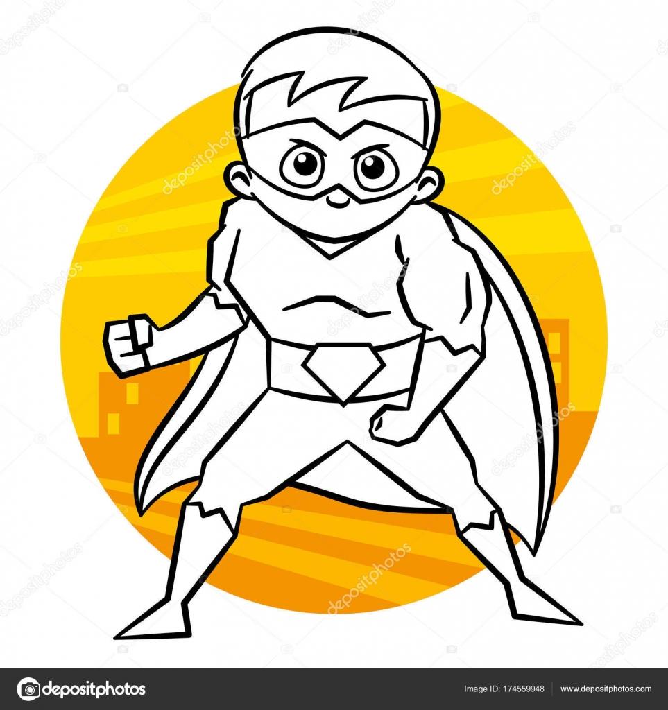 Malvorlagen Superhelden — Stockvektor © ichbinsam #174559948