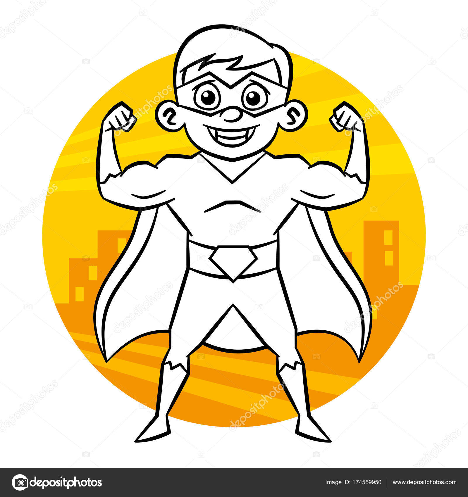 Superheld Kleurplaat Stockvector C Ichbinsam 174559950