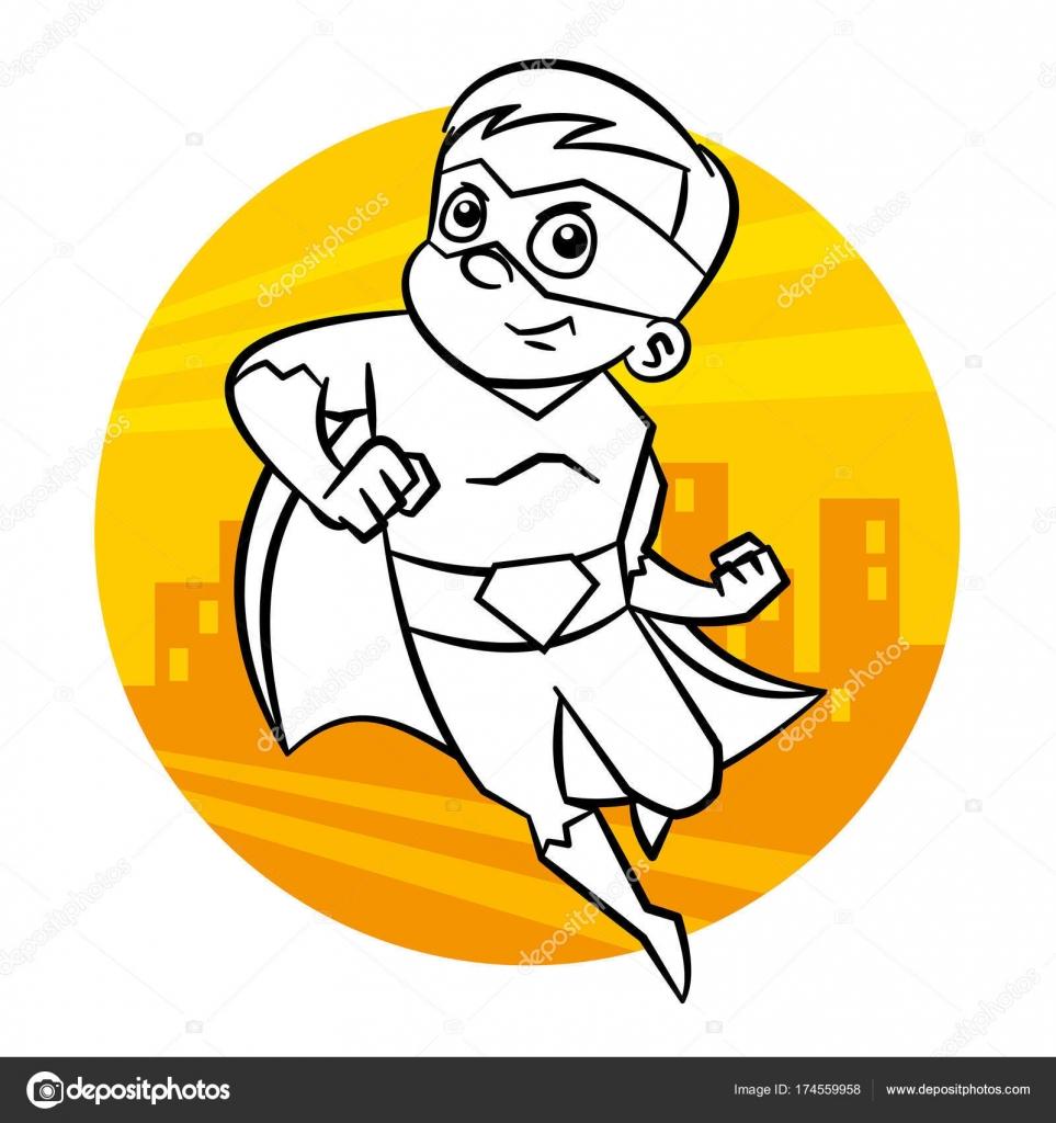 Malvorlagen Superhelden — Stockvektor © ichbinsam #174559958