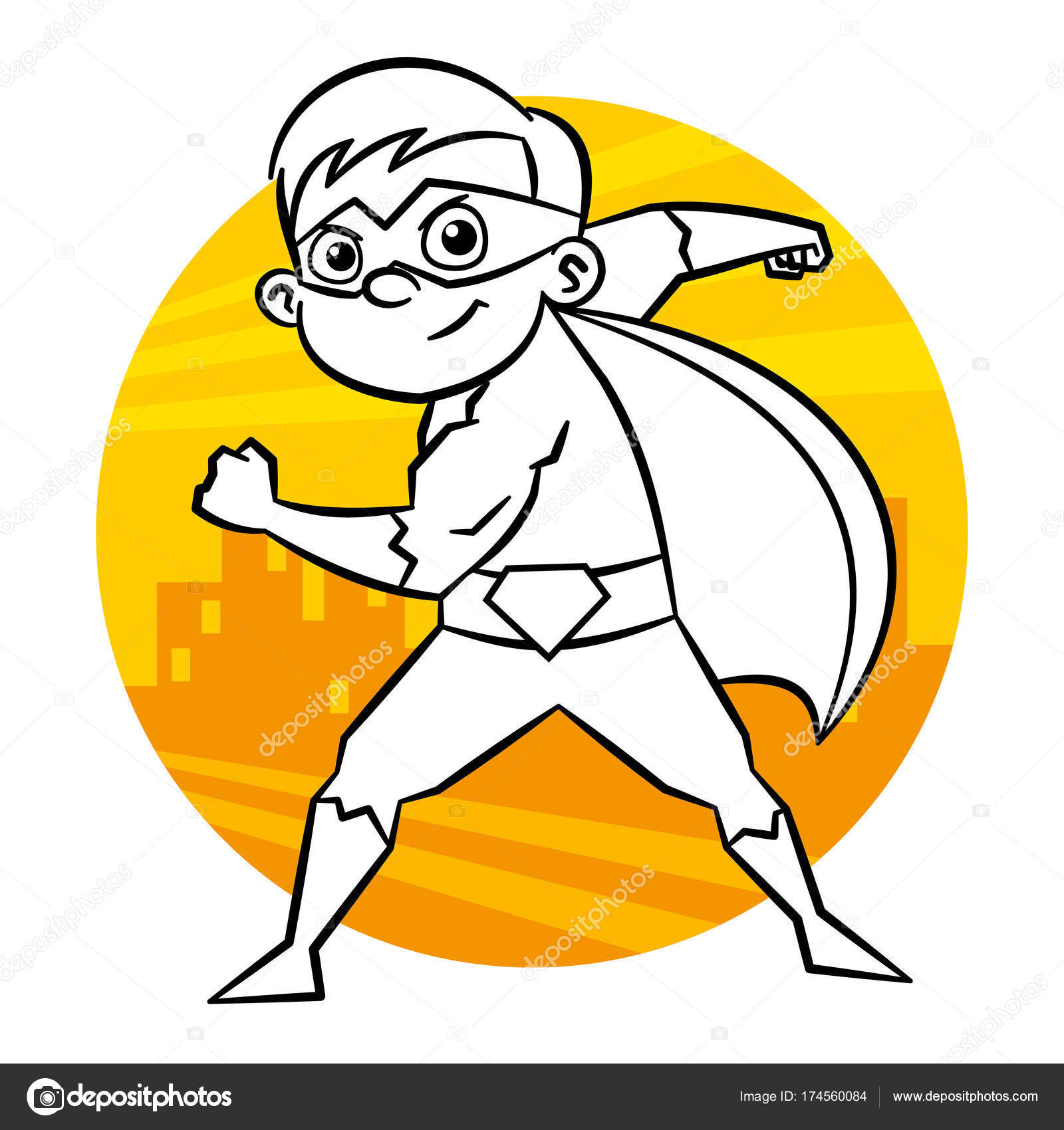 Página para colorear de superhéroes — Archivo Imágenes Vectoriales ...