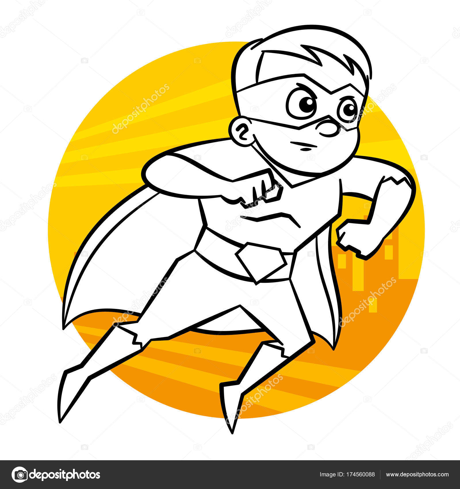 Malvorlagen Superhelden — Stockvektor © ichbinsam #174560088