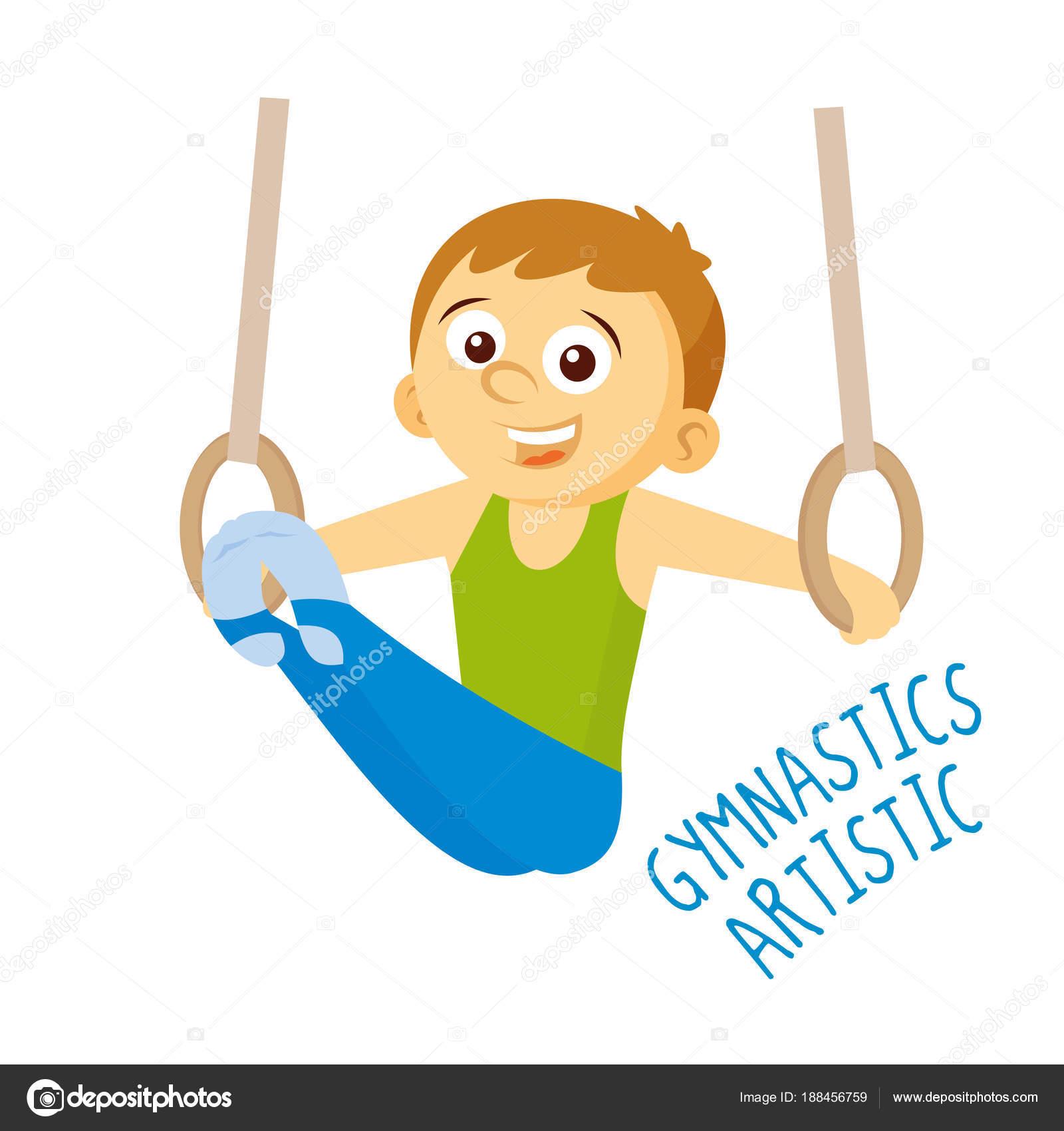 Tipo de deportes atleta gimnasia artística — archivo
