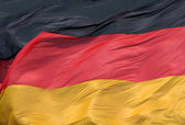 Closeup of waving national flag of Germany