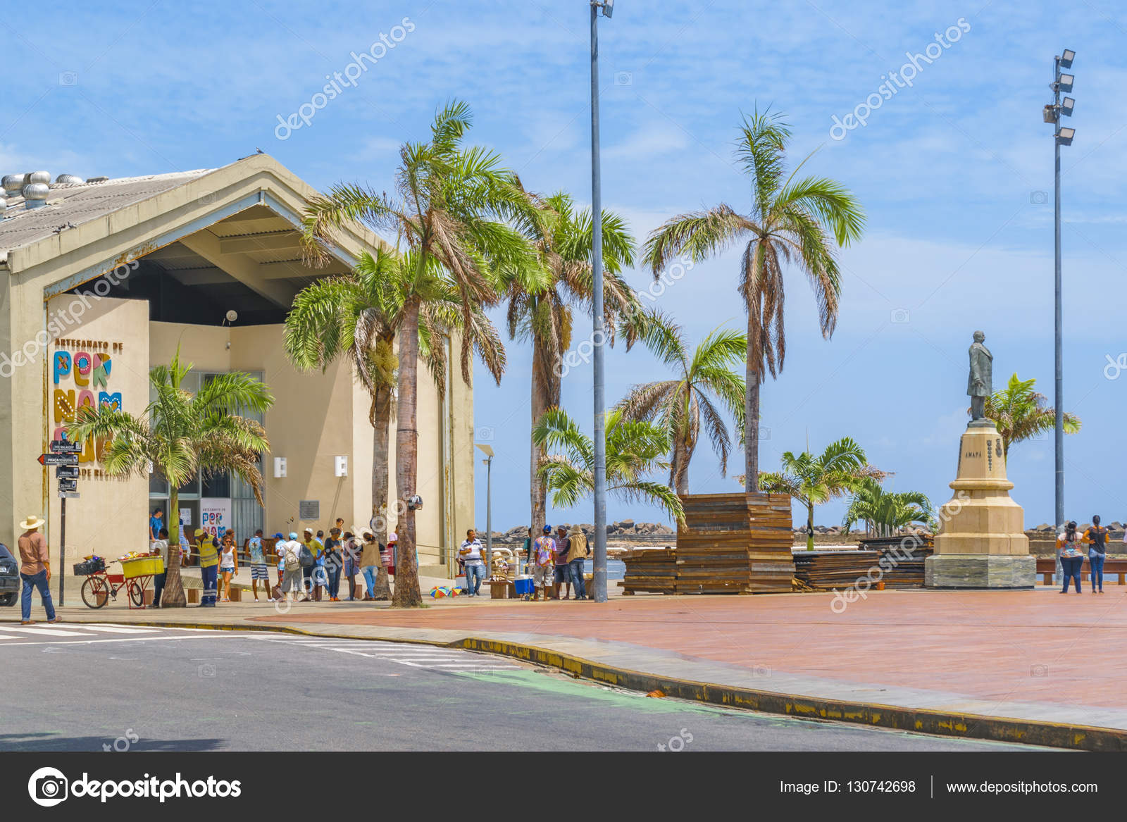 Marco cero Plaza Recife Brasil — Foto editorial de stock ...