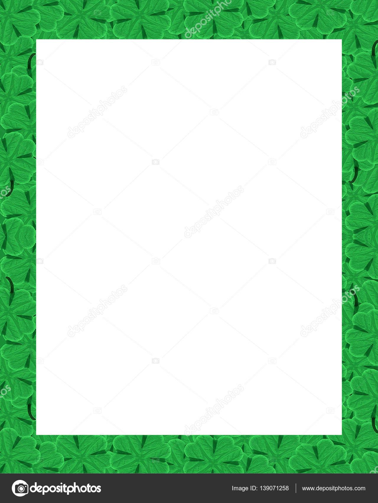Día San Patricio adorno frontera marco — Foto de stock ...