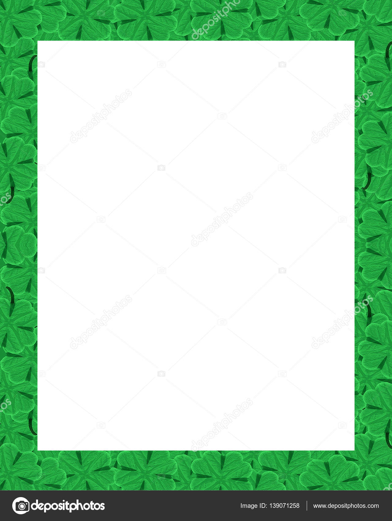 St Patrick Day Motif Border Frame Stock Photo Danflcreativo
