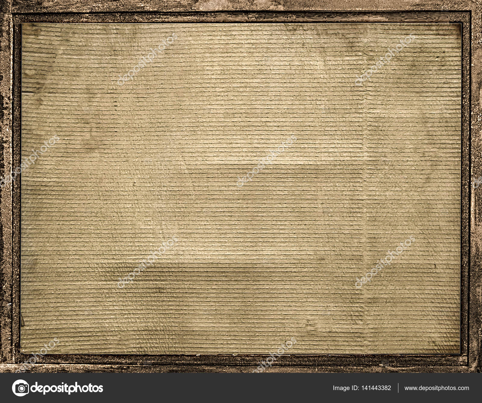 Cardboard Frame With Borders Background — Stock Photo ...
