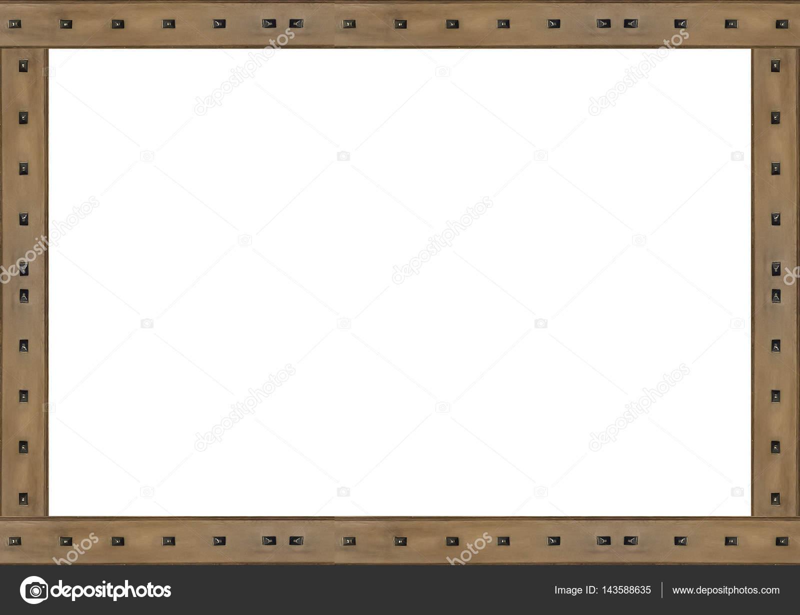 Fondo de marco blanco fronteras de madera decoradas — Fotos de Stock ...