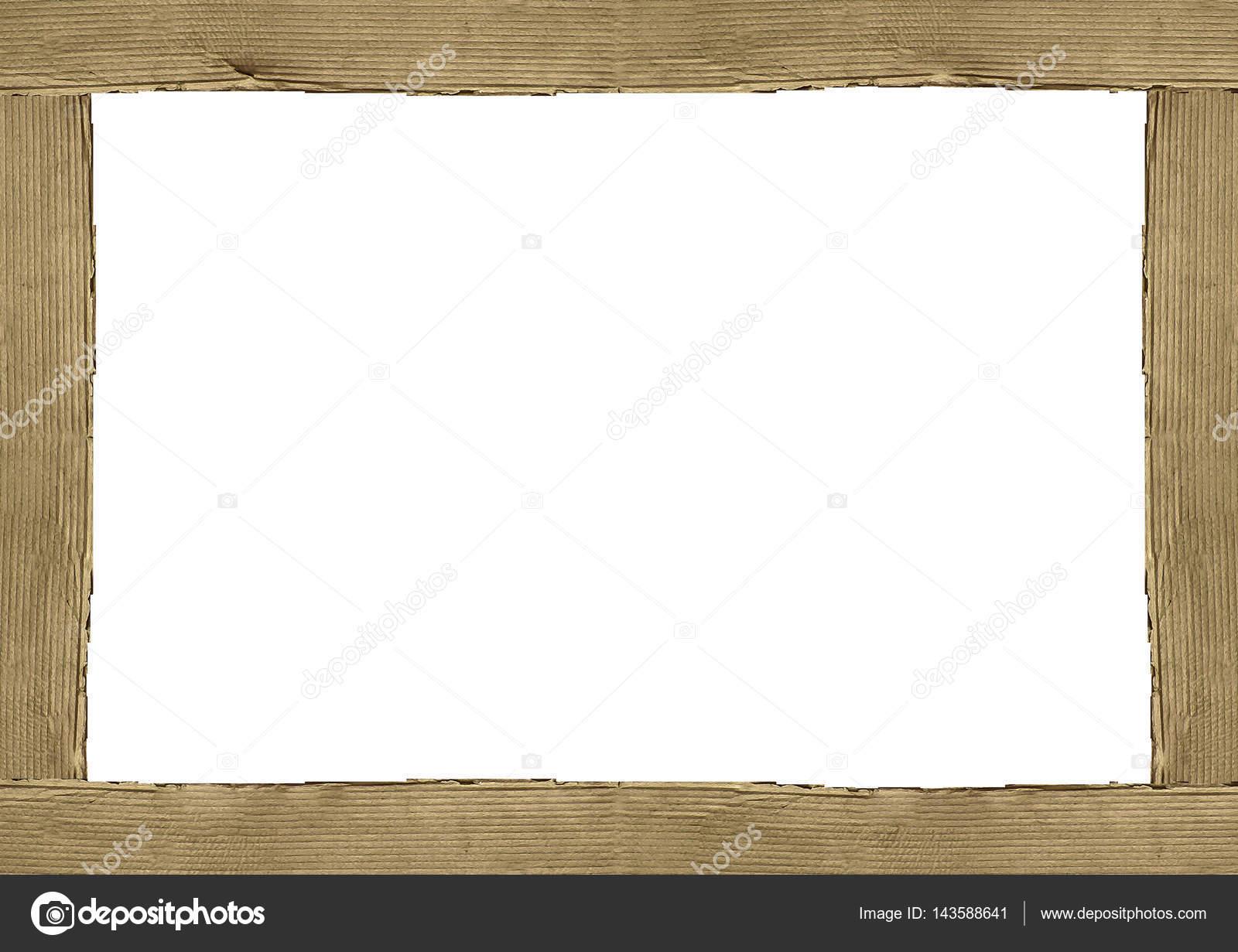 Cardboard Borders White Frame Background — Stock Photo ...