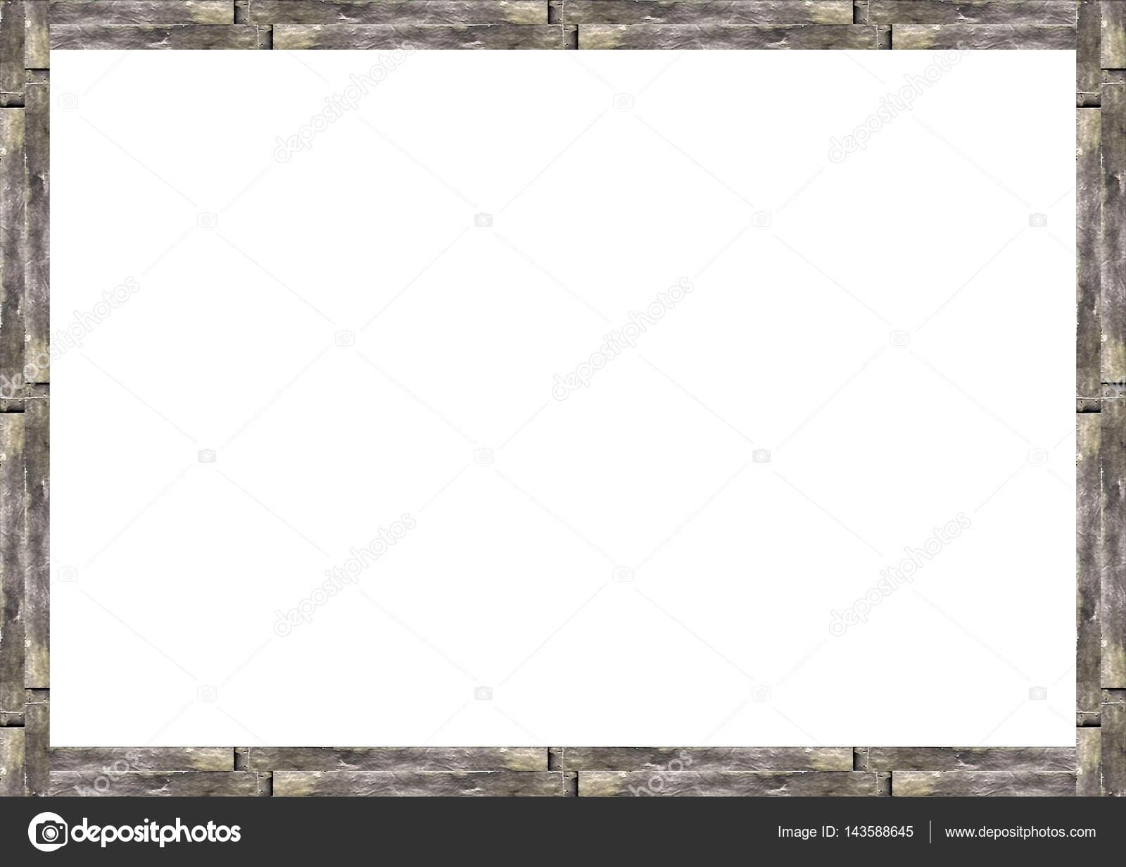 Fronteras de madera rústico marco blanco fondo — Foto de stock ...