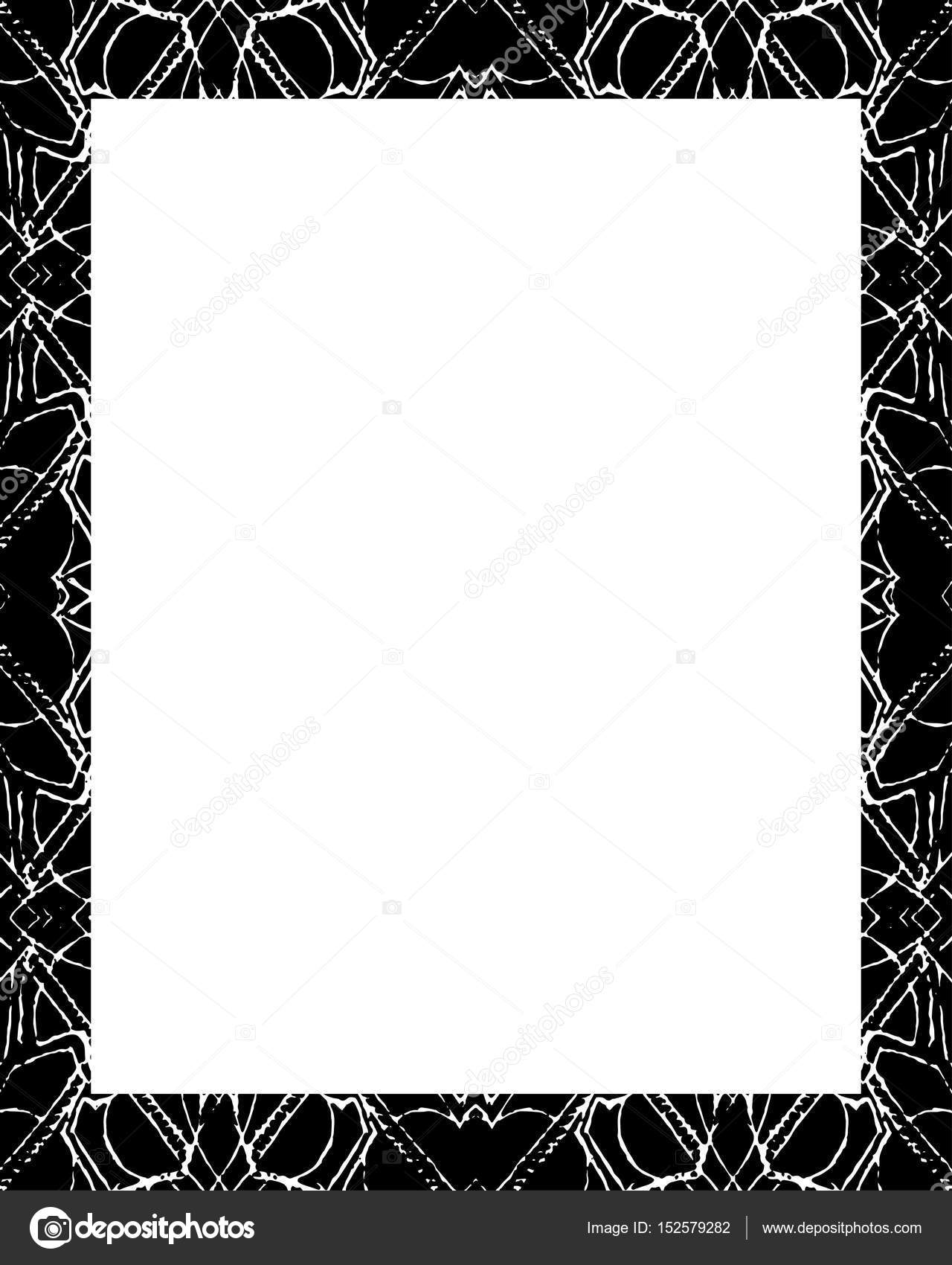 White Frame with Decorated Borders — Stock Photo © DanFLCreativo ...
