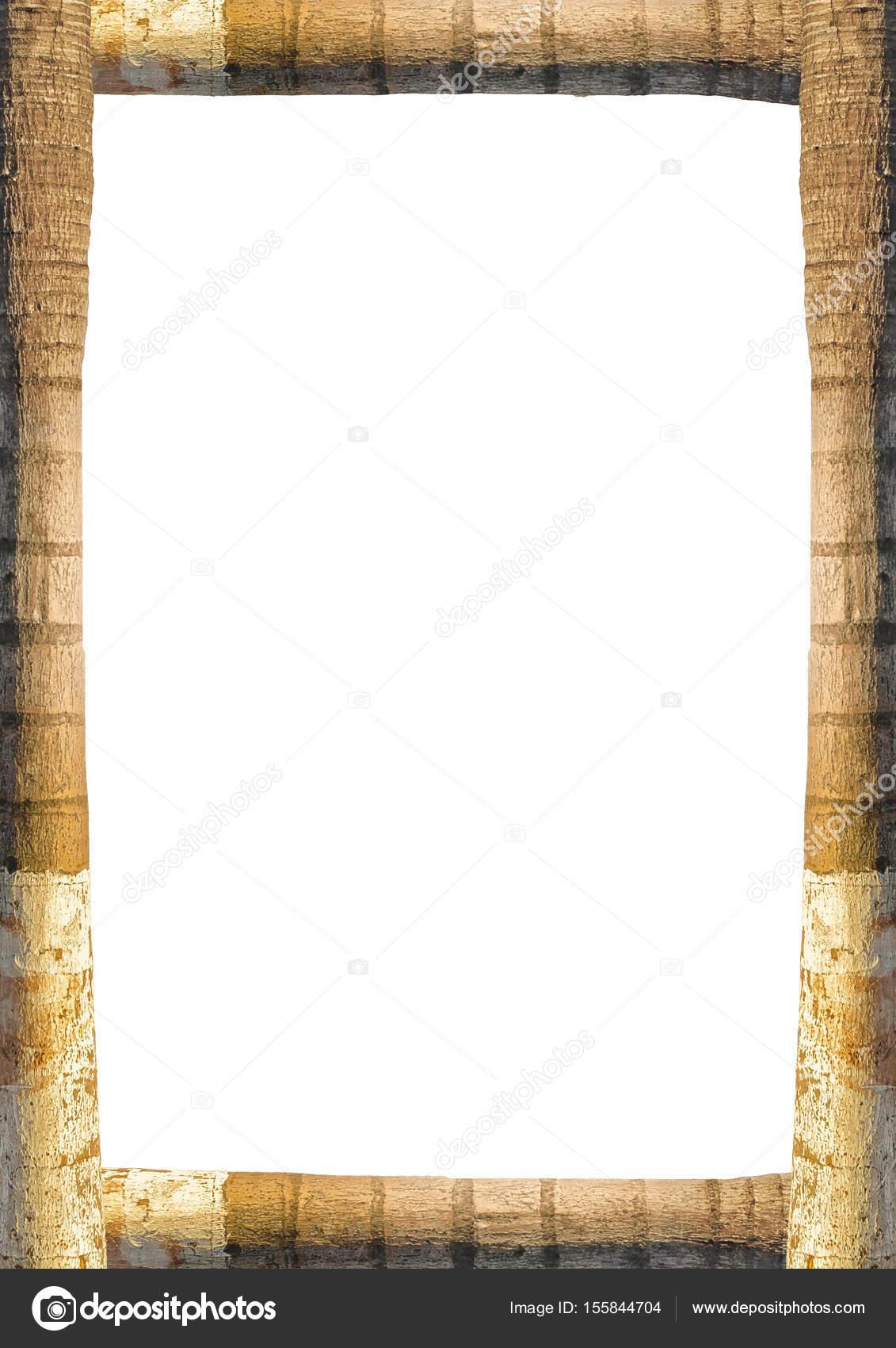 Retrato marco con fronteras de tronco de árbol — Foto de stock ...