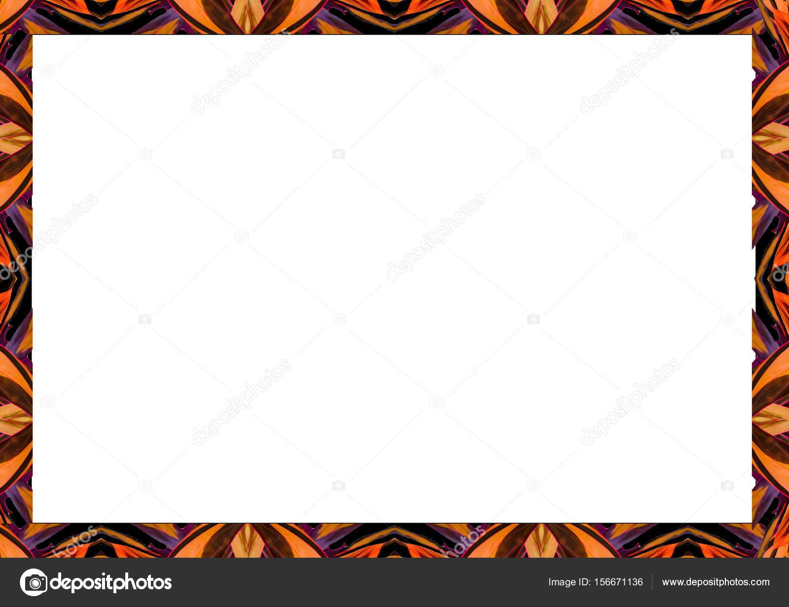 Marco blanco con decorado fronteras tribales — Fotos de Stock ...