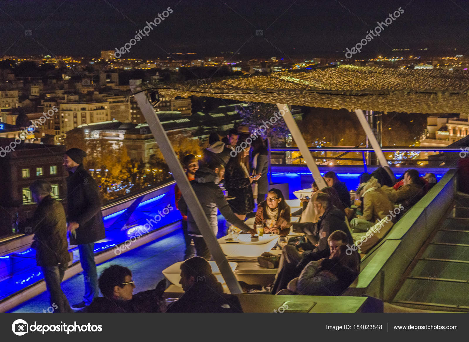 Circle Of Fine Arts Bar Madrid Spain Stock Editorial