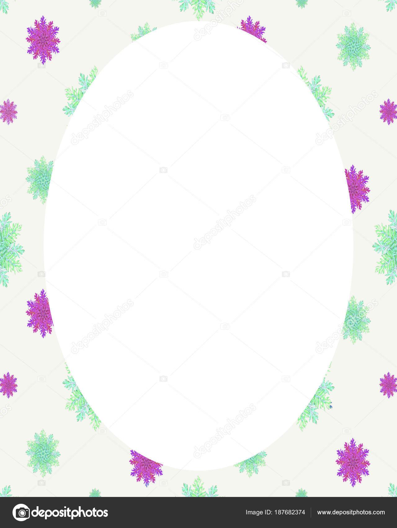 Fondo de marco de círculo con bordes decorados — Foto de stock ...