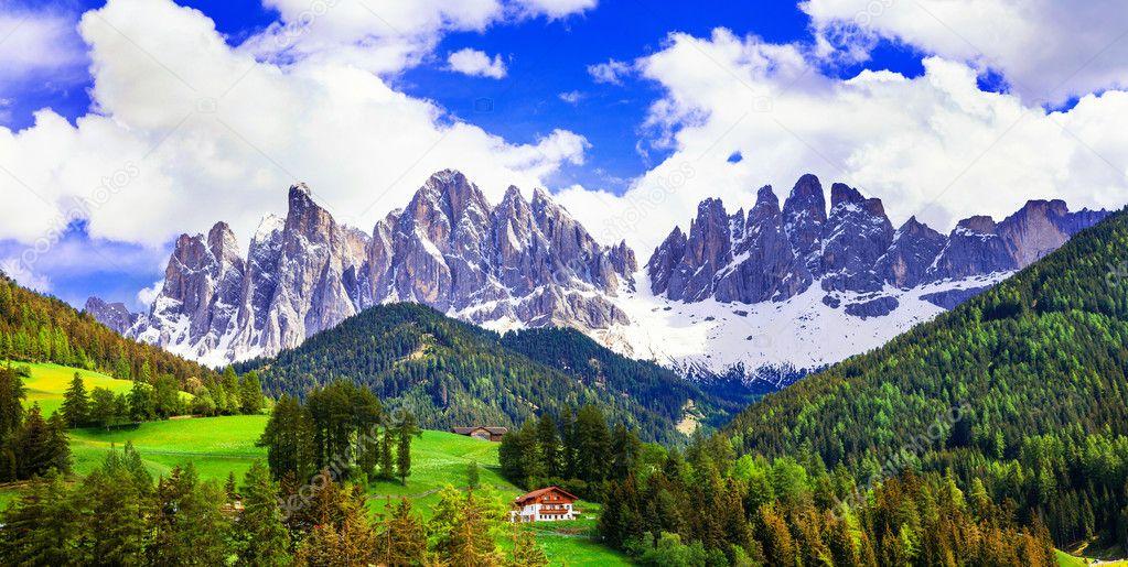 Breathtaking scenery of dolomites mountains stock photo maugli breathtaking scenery of dolomites mountains stock photo voltagebd Images