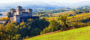 castles of Italy - medieval castle of Torrechiara, Parma