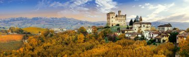 Castello di Grinzane and village - one of the most famous vine regions of Italy.