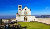 Fotografie Landmarks of Itay - Church of st. Francis in Assisi town.