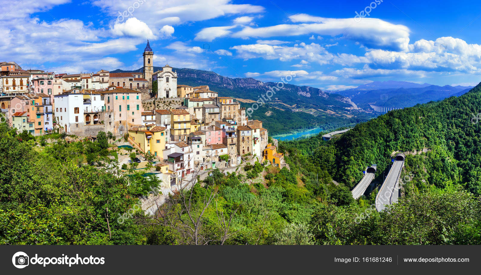 beautiful villages of Itay , Colledimezzo in Abruzzo, Lago di Bomba ...