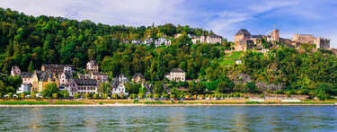 travel in Germany - cruise over Rhine valley . Sankt Goar town a