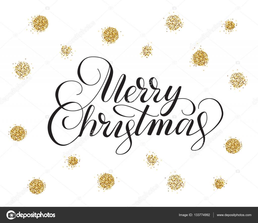 Frohe Weihnachten Glitzer.Frohe Weihnachten Karte Mit Hand Gezeichnet Schriftzügen Und