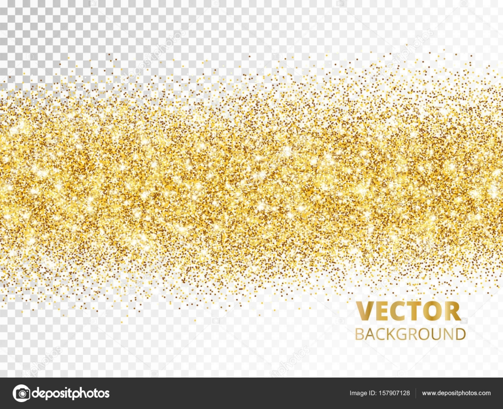 golden rectangle of glitter confetti great for wedding invitations party posters christmas new year and birthday cards vector by olga_lebedeva