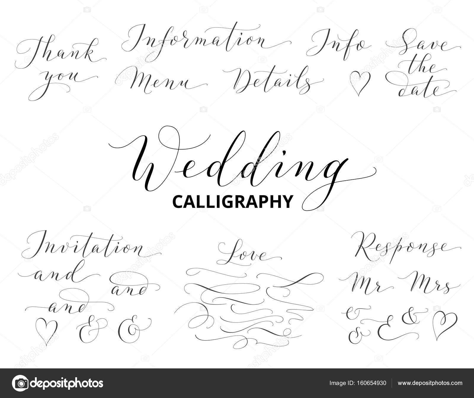 Speichern Sie Das Datum, Liebe, Informationen, Reaktion, Details, Danke,  Menü Worte. Ideal Für Hochzeits Einladungen, Karten, Foto Overlays U2014 Vektor  Von ...