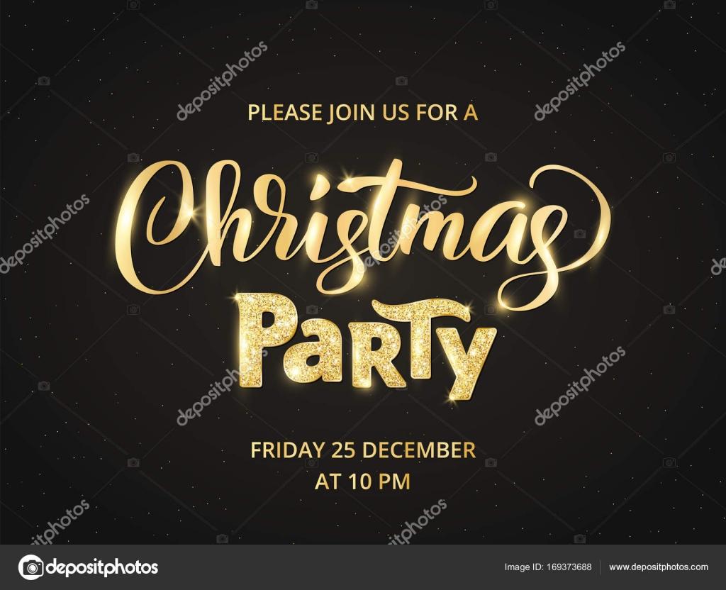 Navidad fiesta poster plantilla, Ilustración del vector. Letras de ...